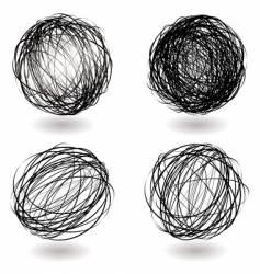 scribble nest variation vector image vector image