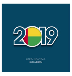 2019 guinea bissau typography happy new year vector image
