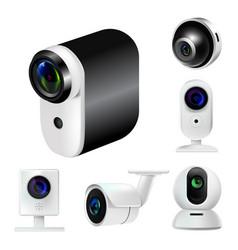 360 and gopro digitals cameras surveillance vector image