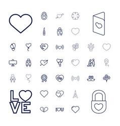 37 romantic icons vector