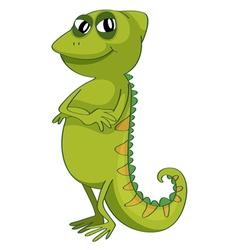 a chameleon vector image