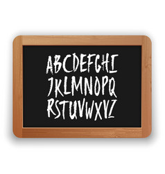 a to z uppercase letters on a blackboard vector image