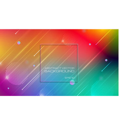 Abstract colorful background with geomatric shapes vector