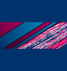 abstract corporate banner with pink blue marble vector image