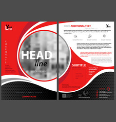 Abstract modern flyer template vector