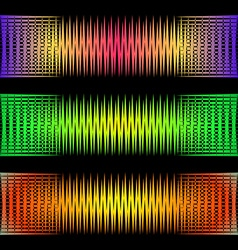 Abstract pattern of sound waves vector image