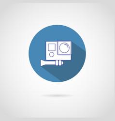 Action video camera icon vector
