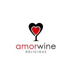 amor wine vector image
