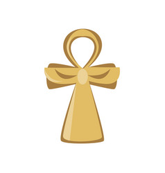 Ankh cross religious sign of the ancient egypt vector