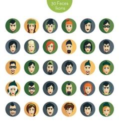 Avatar ikons faces vector