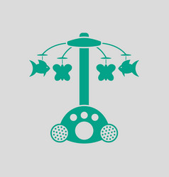 Baby carousel icon vector