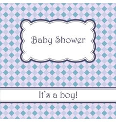 Background with plaid baby shower vector