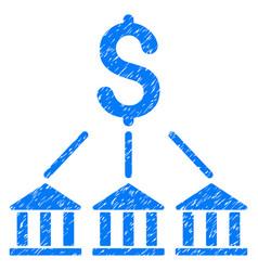 Bank association grunge icon vector