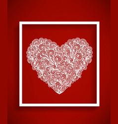 beaytiful bright heart vector image