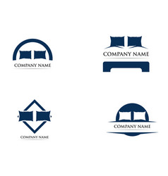 Bed logo template vector