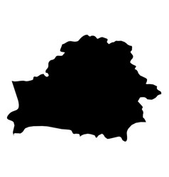 Belarus - solid black silhouette map of country vector