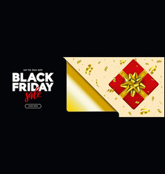 black friday sale banner 3 vector image