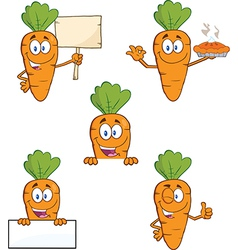 Cartoon carrots vector image