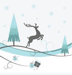 Christmas reindeer winter design vector