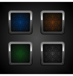 chrome colors buttons vector image