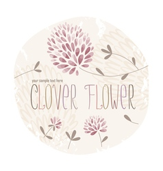 Clover circle vector image