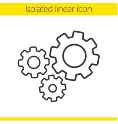 Cogwheels linear icon vector