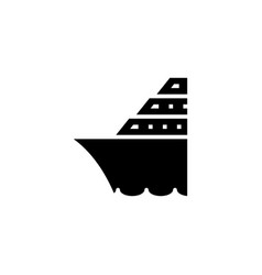 cruise ship icon solid vehicle and transportation vector image