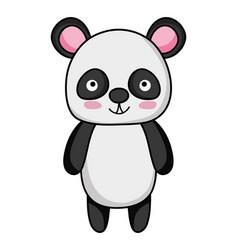 Cute and happy panda wild animal vector