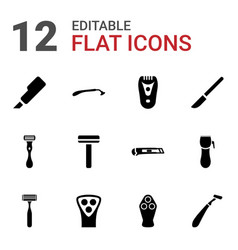 Cutter icons vector