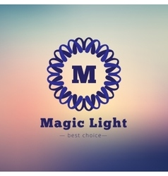 dark flower style geometric monogram logo vector image