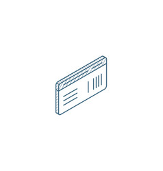 document whith barcode plane or train ticket vector image