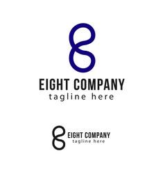 Eight company logo template design vector