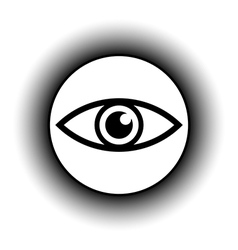 Eye button vector image