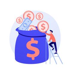 Finances management concept metaphor vector