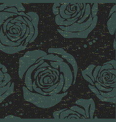 Floral seamless pattern with big decorative vector