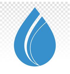 Fresh rain water droplet flat icon vector