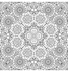 Full frame kaleidoscope background of patterns vector