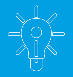 Glowing light bulb icon outline vector