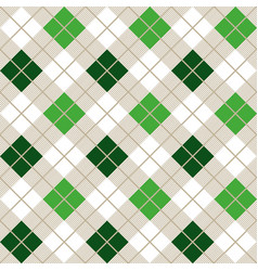 Green argyle harlequin seamless pattern vector