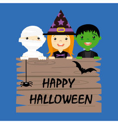 Halloween costume party with kids vector