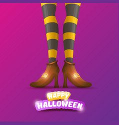 Happy halloween party poster with women vector
