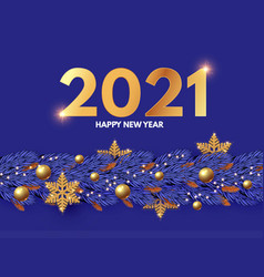 happy new 2021 year design template with gifts vector image
