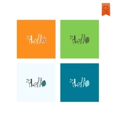 Hello - Stylized Text vector image