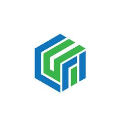 Hexagon business logo vector