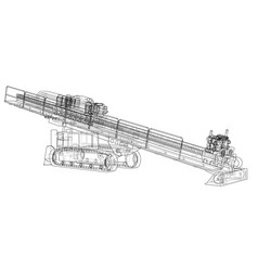 Horizontal directional drilling machine vector