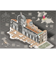 Isometric infographic saint peter in rome vector