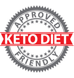 keto diet friendly sign keto diet friendly badge vector image