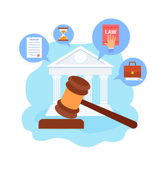 Law school course cartoon vector