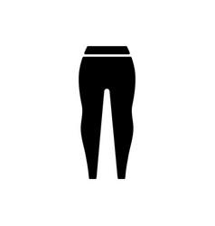 Leggings black glyph icon vector