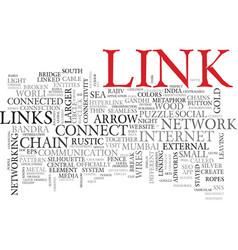 Links word cloud concept vector